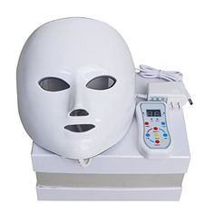 Led Face Mask, NEWKEY Led Light Therapy 7 Color Facial Skin Care Mask - with Clinically Proven Blue & Red Light Treatment Acne Photon Mask - Korea PDT Technology for Acne Reduction/Skin Rejuvenation Light Therapy Acne Mask, Led Light Therapy, Light Face Mask, Wrinkled Skin, Sensitive Skin Care, Thing 1, Facial Skin Care, Facial Peels, Light Skin