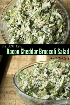 This Easy Broccoli Salad with Bacon is a summer favorite in my house. It is cool, quick, and easy. Low Carb, Keto, Gluten-Free, Grain-Free, THM S. #keto #lowcarb