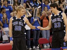 Chad Michael Murray and James Lafferty as Lucas and Nathan Scott :)