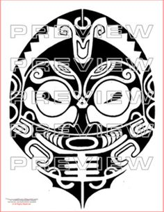 awesome aztec tribal totem tattoo design