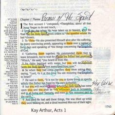 Acts 1 from Kay's own Bible.