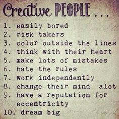 Creative people and Hippies! Free Spirit Girl but there is a typo... A lot* lol