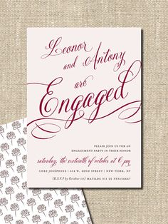 """engagement party invitation DIY printable invitation """"they are engaged"""". $18.00, via Etsy."""