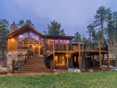 Extraordinary Property of the Day: Remodeled Log and Stone Home with Breathtaking Snow-capped Views of Mt. Evans in Morrison, CO  http://www.fullersothebysrealty.com/eng/sales/detail/218-l-703-vh9sy9/22811-twin-ponds-trail-morrison-co-80465