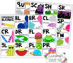 Consonant blends charts FREEBIE from Ladybug's Teaching Files
