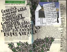 old book upcycled into art journal... idea for all those useless Reader's Digest condensed books?