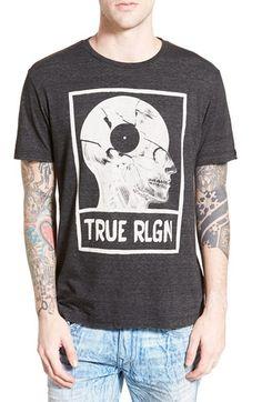 True Religion Brand Jeans 'Record Skull' Graphic Crewneck T-Shirt