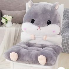 Cheap cushion pillow, Buy Quality cushion design directly from China designer cushions Suppliers: Newest Plush Lovely Cartoon Design Seat Cushion Lumbar Back Support Cushion Pillow for Office Home Car Seat Chair Chair Pads, Chair Cushions, Bear Sleeping Bags, Hamster House, Cute Furniture, Cute Hamsters, Cute Room Decor, Bed Mattress, Sofa Bed