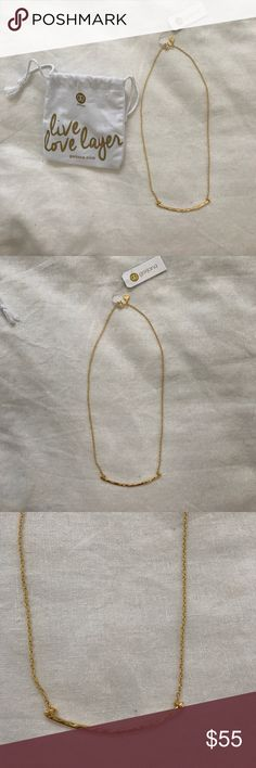 Gorjana Gold Taner Bar Small Necklace NWT Brand new with tags. Currently sold on website. Received as a gift but not my style. Gorjana Jewelry Necklaces