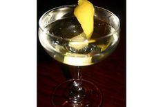 Vesperado Cocktail.  1 1/2 ounces gin  1 ounce Fino Sherry  3/4 ounce Lillet  Lemon twist for garnish  Ice