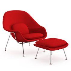 Knoll Womb Chair Leather by Eero Saarinen Chaplins knoll