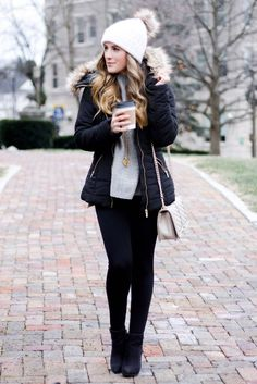 Cute winter puffer jacket!