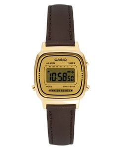 75, Casio Brown Leather Strap Digital Watch. Sold by Asos. Couro Marrom  Escuro 7a24909c9d