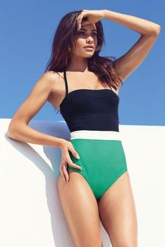 Buy Colourblock Swimsuit from the Next UK online shop