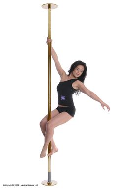 Portable Dance Pole, Entry Level, Pole Dancing, Watch V, Revolutionaries, Sports, Powder, Chrome, Brass