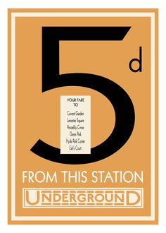 London Underground Tube Fare Poster