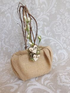 Vintage Rustic Shabby Chic Burlap Wedding by creations4brides, $30.00