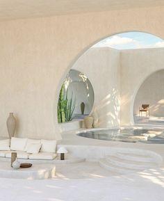 Home Interior Design, Exterior Design, Interior Architecture, Interior And Exterior, Organic Architecture, Concrete Architecture, Arch Interior, Desert Homes, My Dream Home