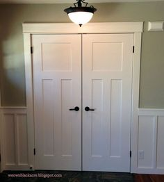 image result for bifold closet doors converted to regular doors