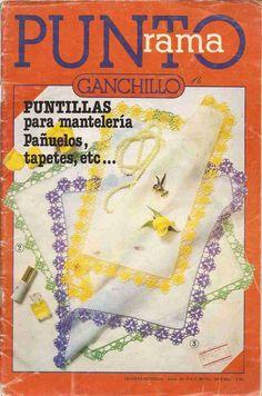 Revista #11: Punto Rama Ganchillo - Puntillas para manteleria | CTejidas [Crochet y Dos Agujas]
