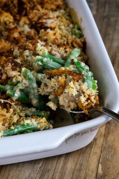 Get this tested recipe for gluten free green bean casserole with gluten free crispy fried onions for your gluten free Thanksgiving table, or any time! More from my siteCampbell's® Green Bean Casserole RecipeGluten Free Green Bean Casserole Gluten Free Thanksgiving, Gluten Free Dinner, Gluten Free Cooking, Dairy Free Recipes, Thanksgiving Recipes, Healthy Recipes, Thanksgiving Table, Healthy Food, Healthy Options