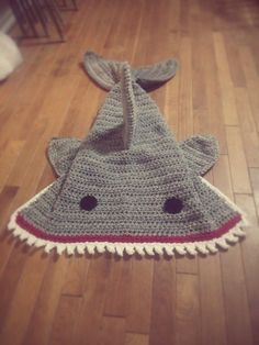 Hey, I found this really awesome Etsy listing at… Crochet Shark Blanket, Mermaid Tail Blanket, Crochet For Kids, Crochet Baby, Knit Crochet, Boy Blankets, Knitted Blankets, Crochet Mermaid, Yarn Bombing
