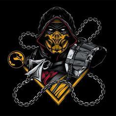 Scorpion Mortal Kombat, Mortal Kombat Tattoo, Sub Zero Mortal Kombat, Mortal Kombat Art, Mortal Kombat Video Game, Mortal Kombat X Wallpapers, Les Reptiles, Game Logo Design, Gaming Wallpapers