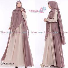 Shareena Syari by Hawwa Aiwa Baju Gamis Bahan Ceruti Babydoll 2 Moslem Fashion, Niqab Fashion, Fashion Dresses, Velvet Dress Designs, Hijab Style Dress, Mode Abaya, Sewing Clothes Women, Long Gown Dress, Muslim Dress
