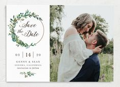 Greenery Hoop Save The Date Cards Save The Date Pictures, Modern Save The Dates, Wedding Save The Dates, Save The Date Cards, Engagement Invitations, Elegant Wedding Invitations, Wedding Stationary, Outdoor Wedding Reception, Engagement Pictures