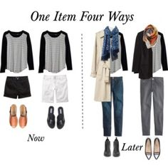 One Item Four Ways - Striped Tee