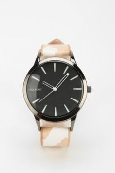 Cold Picnic Colorblock Printed Leather Watch $110