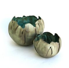 hand built porcelain balloon bowls .... copper