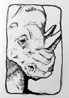 Rhinos Before Horns by Arpita Choudhury via The Science of Illustration