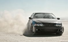 Car BMW M5 E39 Drift Dust Poster