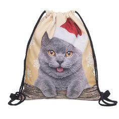 $2.77 (Buy here: https://alitems.com/g/1e8d114494ebda23ff8b16525dc3e8/?i=5&ulp=https%3A%2F%2Fwww.aliexpress.com%2Fitem%2FNaivety-2016-New-Fashion-Unisex-Cute-Christmas-Cat-3D-Printing-Drawstring-Backpack-Gift-Bags-11S60919%2F32736182668.html ) Naivety 2016 New Fashion Unisex Cute Christmas Cat 3D Printing Drawstring Backpack Gift Bags 11S60919 drop shipping for just $2.77