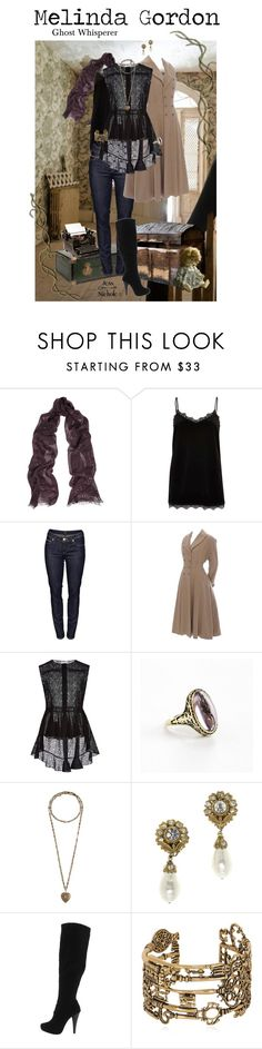 """Ghost Whisperer: Melinda Gordon"" by jess-nichole ❤ liked on Polyvore featuring Valentino, River Island, Lee, Giambattista Valli, Allsop, Etro, Chanel, Michael Antonio, Alcozer & J and vintage"