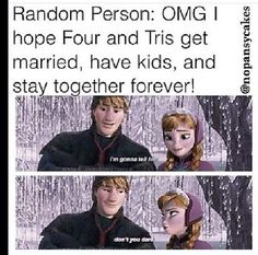 Lol divergent and frozen- funny