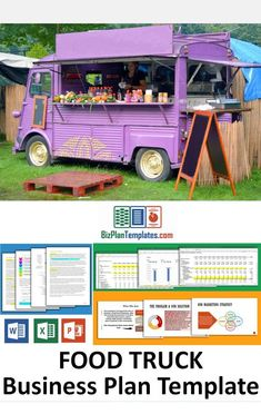 Food Truck business Plan template sample with financial projections Food Truck Business, Bakery Business, Business Planning, Business Ideas, Starting A Food Truck, Food Truck For Sale, Vegan Food Truck, Food Trucks, Mobile Coffee Shop