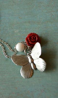 Fluttering Butterfly Necklace