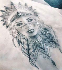 native indian girl tattoo indian native girl tattoo flash design - indiana nativa ragazza tatuaggio disegno tattoo tattoo ideas for women for women ideas girl body girl design girl drawing girl face girl models ideas for moms for women Indian Women Tattoo, Native Indian Tattoos, Indian Girl Tattoos, Indian Tattoo Design, Native American Tattoos, Mädchen Tattoo, Tattoo Style, Body Art Tattoos, Tattoo Flash