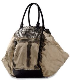 Canvas and leather oversized bag.