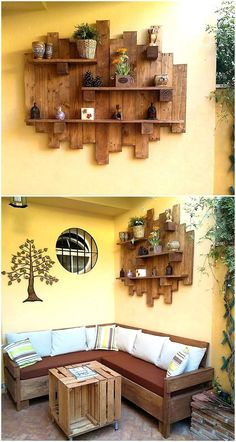 Decoration - Dekoration - Here we have presented an idea which will serve both purposes, it will not only . Decoration - Dekoration - Here we have presented an idea which will serve both purposes, it will not only . Diy Pallet Furniture, Diy Pallet Projects, Pallet Ideas, Furniture Ideas, Furniture From Pallets, Repurposed Wood Projects, Furniture Nyc, Furniture Companies, Rustic Furniture