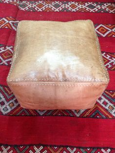 Genuine leather pouf sitting chair ottoman in tan от nourleather, Leather Pouf, Poufs, Chair And Ottoman, House Styles, Furniture, Ideas, Decor, Decoration, Home Furnishings