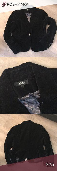 ABS like new black velvet blazer ABS like new black velvet blazer ABS Allen Schwartz Jackets & Coats Blazers