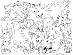 Oh holy Mew.this picture is insane! Okay, I am the one who is insane, but allow me first to list off all the pokemon in this drawing (in no particul. Water Pokemon -line- Pokemon Coloring Sheets, Unicorn Coloring Pages, Coloring Pages For Boys, Flower Coloring Pages, Free Coloring Pages, Printable Coloring Pages, Coloring Books, Deviantart Pokemon, Mega Pokemon