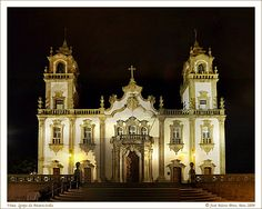 Basilica at night in Viseu, central Portugal    #portugal #viseu #travel #visitportugal #travelportugal #architecture #heritage