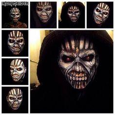 Kinda went #Eddie #selfie mode yesterday  #ironmaiden #bookofsouls #makeup #facepainting #iloveart #art #artist #kryolan using @kryolanuk Aqua paints thanks x