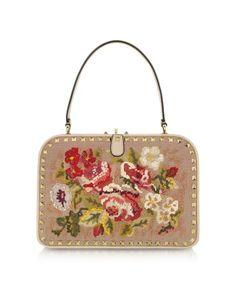 dreamin….Rockstud Embroidered Frame Handbag  byVALENTINO GARAVANI