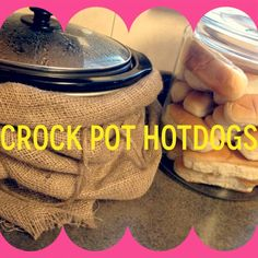 Instead of having to mess with a hot grill on a play date I throw a bunch of hotdogs in a crockpot on low for 4 hours and then some hotdog buns in a jar. Bonfire Birthday Party, 50th Party, Birthday Ideas, Grad Parties, Summer Parties, Dog Recipes, Crockpot Recipes, Hot Dog Bar, Crock Pot Cooking