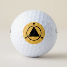 Golf Ball SACRED GEOMETRY black on mango Gifts For Golfers, Golf Gifts, Hole In One, Unusual Gifts, Bright Yellow, Golf Ball, Sports Equipment, Sacred Geometry, Cover Design
